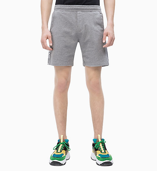 CALVIN KLEIN JEANS Jogging-Shorts mit seitlichem Logo - GREY HEATHER - CALVIN KLEIN JEANS NEW IN - main image