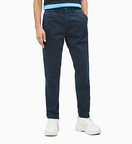 CALVIN KLEIN JEANS CKJ 056 Tapered Chino-Hose - NIGHT SKY - CALVIN KLEIN JEANS NEW IN - main image