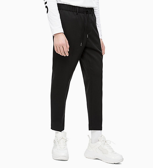 CALVIN KLEIN JEANS Wool Blend Twill Trousers - CK BLACK - CALVIN KLEIN JEANS NEW IN - main image