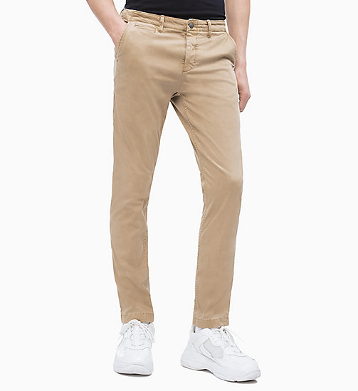 CALVIN KLEIN JEANS CKJ 026 Slim Chino-Hose - TRAVERTINE 15-1114 - CALVIN KLEIN JEANS NEW IN - main image
