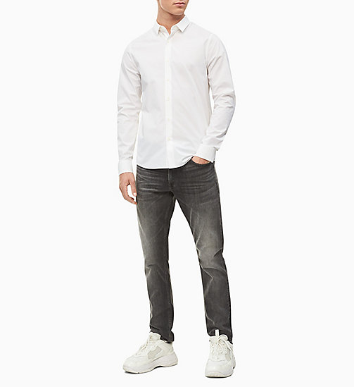 CALVIN KLEIN JEANS Slim Fit Hemd aus Stretch-Baumwolle - BRIGHT WHITE - CALVIN KLEIN JEANS NEW IN - main image 1