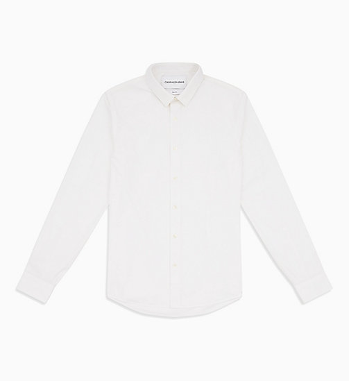 CALVIN KLEIN JEANS Slim Cotton Stretch Shirt - BRIGHT WHITE - CALVIN KLEIN JEANS NEW IN - main image