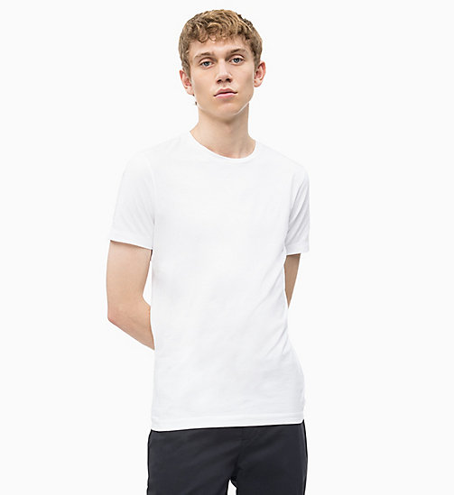 CALVIN KLEIN JEANS Slim T-shirt - BRIGHT WHITE - CALVIN KLEIN JEANS NEW IN - main image