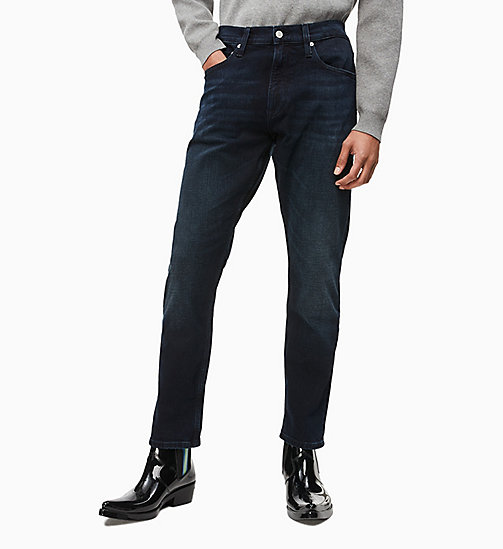 CALVIN KLEIN JEANS CKJ 056 Athletic Tapered Jeans - THEO BLUE BLACK - CALVIN KLEIN JEANS NEW IN - main image