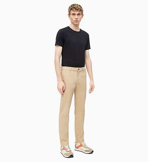 CALVIN KLEIN JEANS Slim Chino Trousers - TRAVERTINE - CALVIN KLEIN JEANS NEW IN - detail image 1