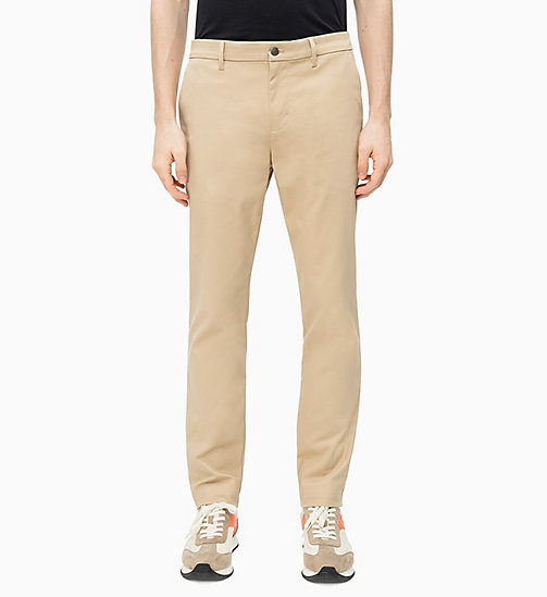 CALVIN KLEIN JEANS Slim Fit Chino-Hose - TRAVERTINE - CALVIN KLEIN JEANS NEW IN - main image