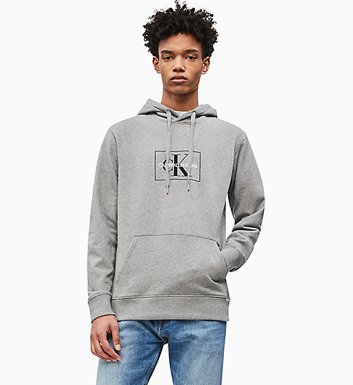 CALVIN KLEIN JEANS Logo-Kapuzenjacke - LIGHT GREY HEATHER - CALVIN KLEIN JEANS LOGO SHOP - main image