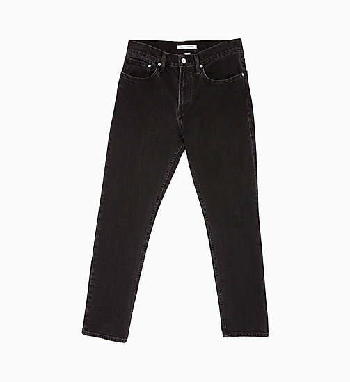 CALVIN KLEIN JEANS CKJ 016 Skinny Ankle Jeans - STOCKHOLM BLACK EMBRO LIGHT GREY - CALVIN KLEIN JEANS DENIM SHOP - main image