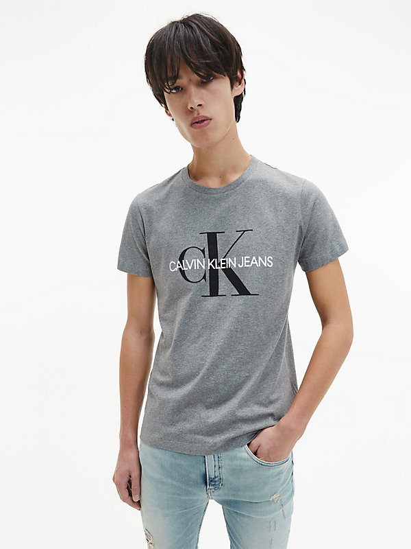 CALVIN KLEIN JEANS  - MID GREY HEATHER -   - main image