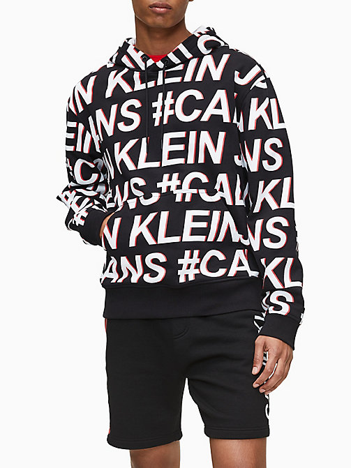 White Spotted Full-Print Sweater Mens Hoodie Sweater