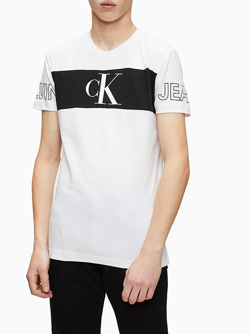 Slim Colour Block Logo T shirt CALVIN KLEIN® | J30J315266YAF