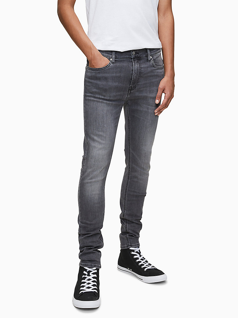 Mens Jeans Calvin Klein Skinny Faded