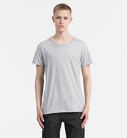 CALVIN KLEIN JEANS Regular Cotton T-shirt - MID GREY HEATHER - CALVIN KLEIN JEANS CLOTHES - main image