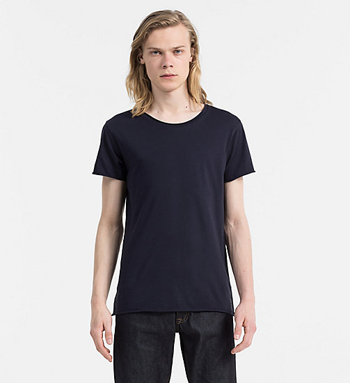 CALVIN KLEIN JEANS Regular Cotton T-shirt - NIGHT SKY - CALVIN KLEIN JEANS CLOTHES - main image