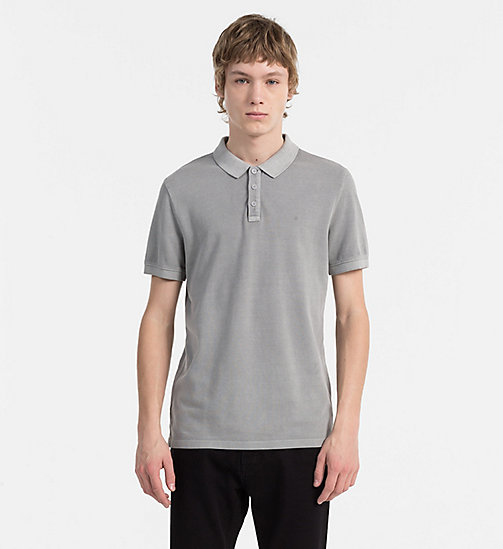 CALVIN KLEIN JEANS Washed Piqué Polo - ALLOY - CALVIN KLEIN JEANS NEW IN - main image