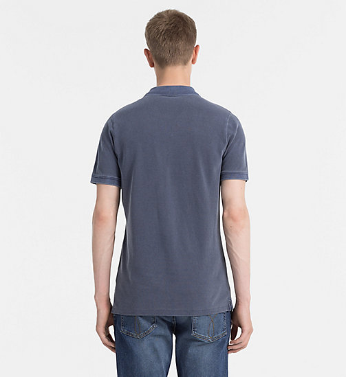 CALVIN KLEIN JEANS Washed Piqué Polo - NIGHT SKY - CALVIN KLEIN JEANS NEW IN - detail image 1