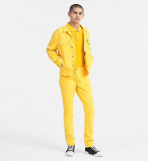 CALVIN KLEIN JEANS Washed Piqué Polo - SPECTRA YELLOW - CALVIN KLEIN JEANS NEW IN - detail image 1