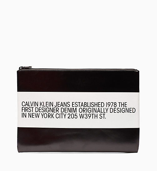 CALVIN KLEIN JEANS Est. 1978 Patch Leather Pouch - CK BLACK - CALVIN KLEIN JEANS VIEW ALL - main image