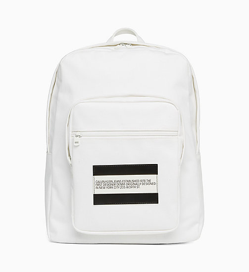 CALVIN KLEIN JEANS Est. 1978 Patch Denim Backpack - WHITE RINSE - CALVIN KLEIN JEANS VIEW ALL - main image