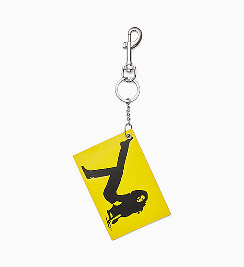 CALVIN KLEIN JEANS Icon Key Chain - LEMON YELLOW - CALVIN KLEIN JEANS ACCESSORIES - main image