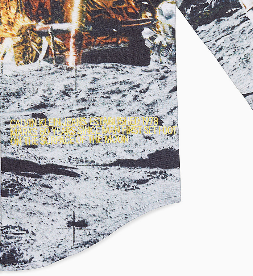 Moon Landings Western Shirt Jacket by Calvin Klein