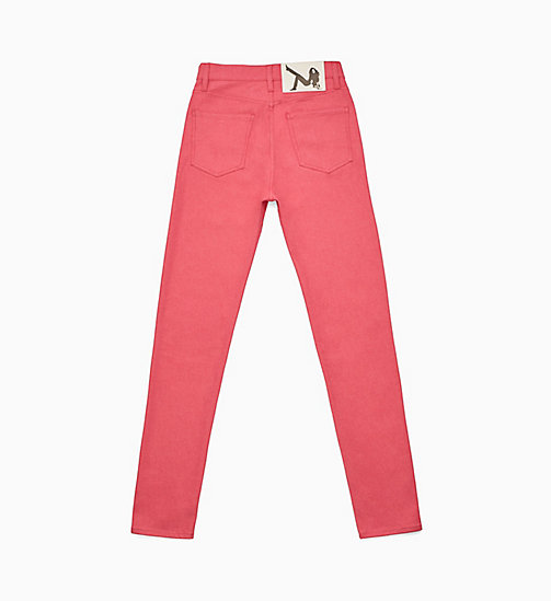CALVIN KLEIN Icon Narrow Leg Pink Jeans - PINK - CALVIN KLEIN VIEW ALL - detail image 1