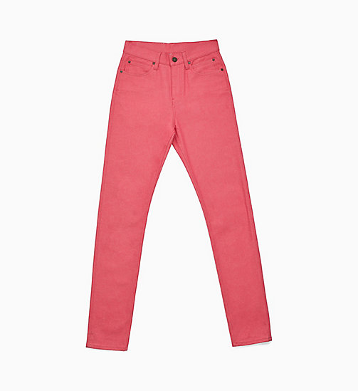CALVIN KLEIN Icon Narrow Leg Pink Jeans - PINK - CALVIN KLEIN VIEW ALL - main image
