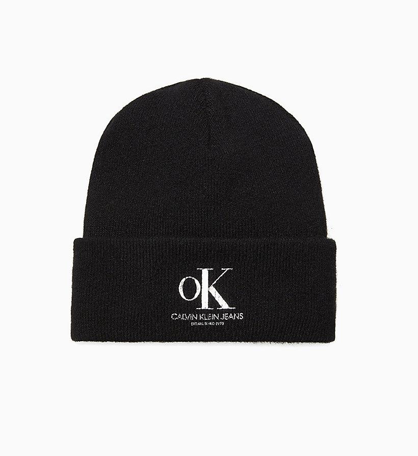 78b65c74d57ba1 Unisex Wool Blend OK Logo Beanie Calvin Klein® | J90J900301BAE