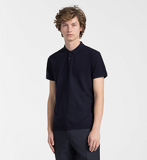 CALVINKLEIN Cotton Piqué Polo - SKY CAPTAIN -  NEW IN - main image