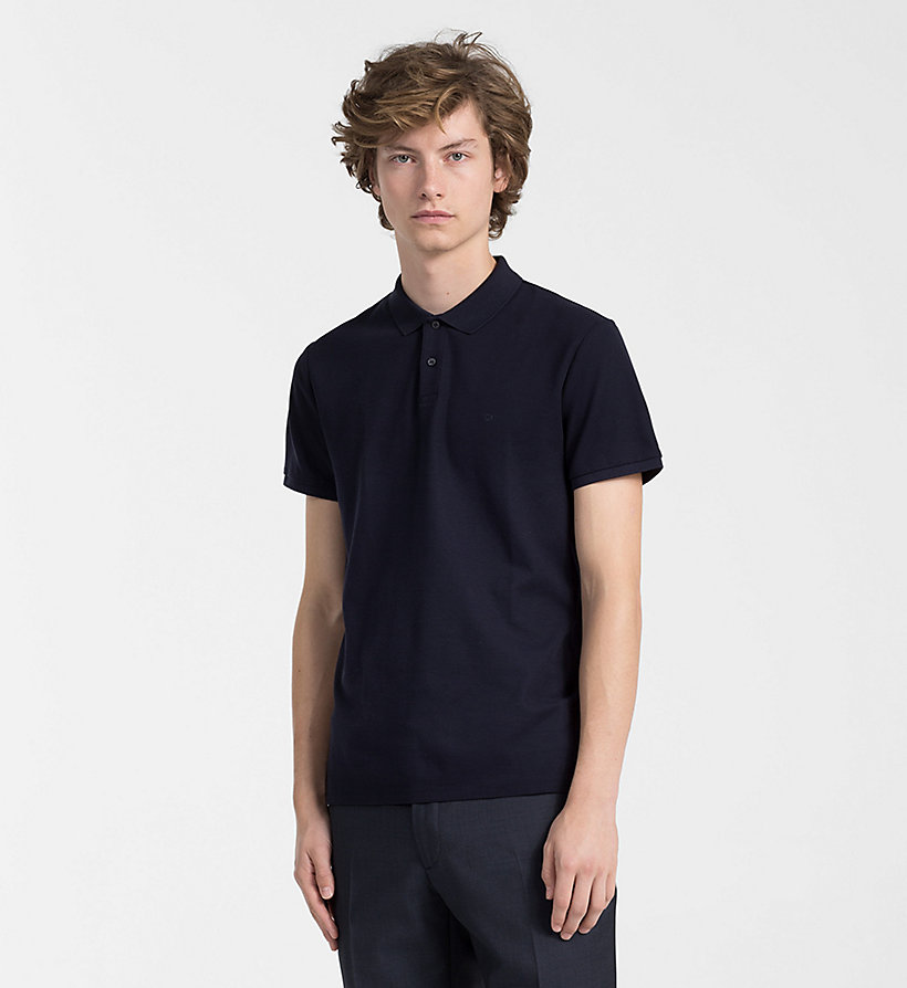 Hombre Polo De Piqué De Algodón Sky Captain Xl,s,m,xxl,l Calvin Klein
