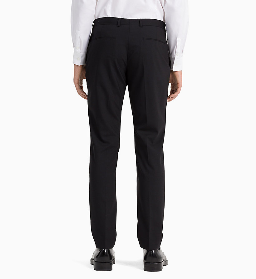 CALVINKLEIN Slim Wool Stretch Trousers - MIDNIGHT NAVY - CALVIN KLEIN MEN - detail image 2