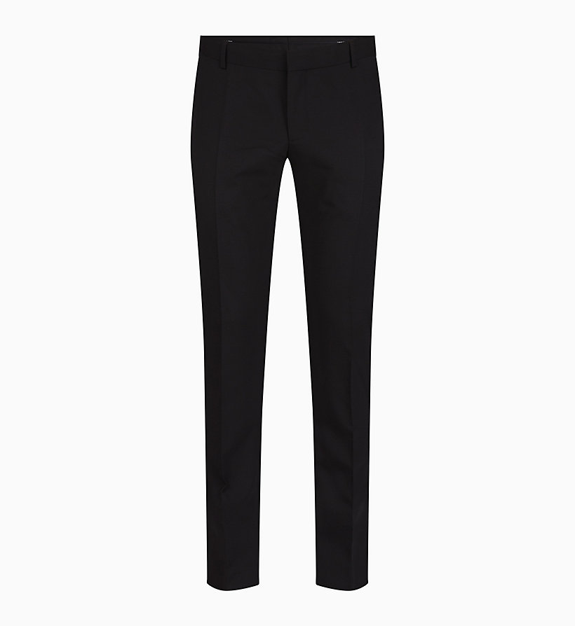 CALVINKLEIN Slim Wool Stretch Trousers - MIDNIGHT NAVY - CALVIN KLEIN MEN - main image
