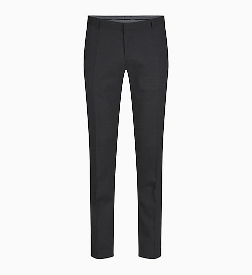 CALVIN KLEIN Slim Wool Stretch Trousers - ASPHALT - CALVIN KLEIN CLOTHES - main image
