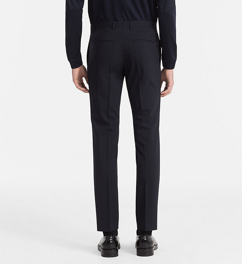 CALVINKLEIN Slim Wool Stretch Trousers - ASPHALT - CALVIN KLEIN MEN - detail image 1