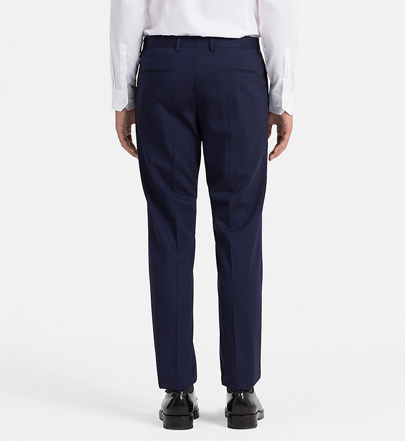 CALVINKLEIN Slim Wool Stretch Trousers - LIMOGES - CALVIN KLEIN MEN - detail image 1