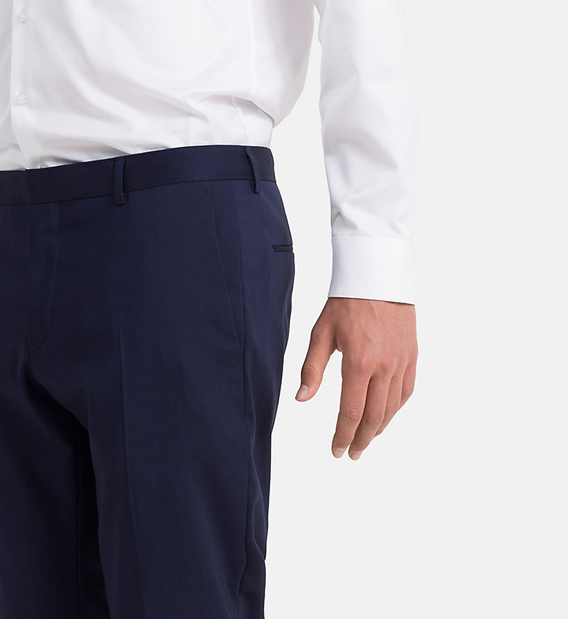 CALVINKLEIN Slim Wool Stretch Trousers - LIMOGES - CALVIN KLEIN MEN - detail image 2