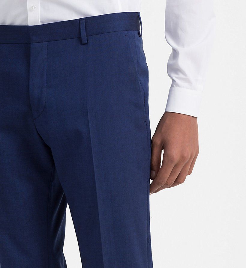 CALVINKLEIN Slim Wool Stretch Trousers - PERFECT BLACK - CALVIN KLEIN MEN - detail image 2