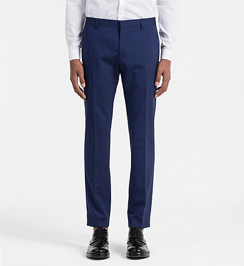 CALVINKLEIN Slim Wool Stretch Trousers - LIMOGES - CALVIN KLEIN TROUSERS - main image