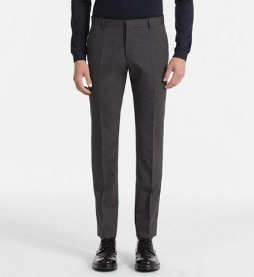 4804bf7e9e Pantaloni stretti in lana aderente da uomo da uomo Calvin Klein ...