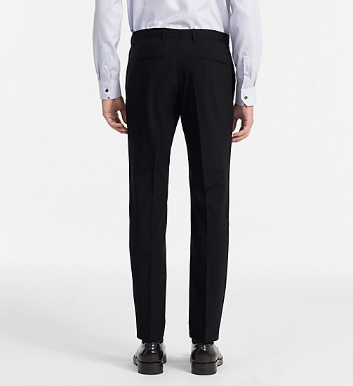 CALVINKLEIN Fitted Wool Stretch Trousers - MIDNIGHT NAVY - CALVIN KLEIN TROUSERS & SHORTS - detail image 1