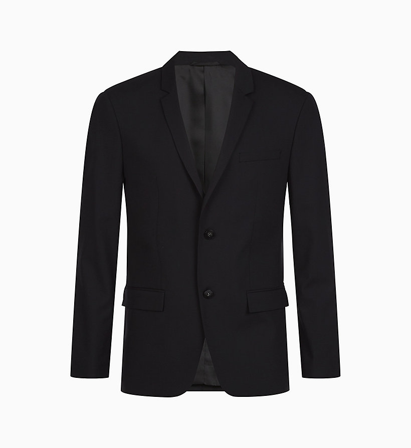 CALVINKLEIN Fitted Wool Stretch Blazer - MIDNIGHT NAVY - CALVIN KLEIN MEN - main image