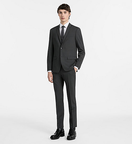 CALVINKLEIN Fitted Wool Stretch Blazer - ASPHALT - CALVIN KLEIN CLOTHES - detail image 1