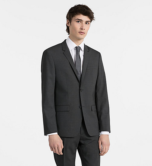 CALVINKLEIN Fitted Wool Stretch Blazer - ASPHALT - CALVIN KLEIN CLOTHES - main image
