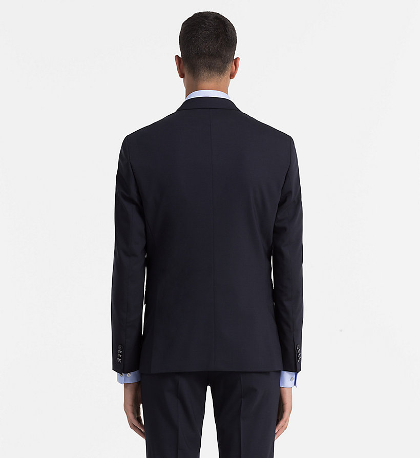 CALVINKLEIN Fitted Wool Stretch Blazer - ASPHALT - CALVIN KLEIN MEN - detail image 2