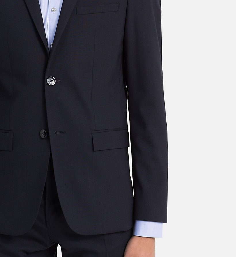 CALVINKLEIN Fitted Wool Stretch Blazer - ASPHALT - CALVIN KLEIN MEN - detail image 3