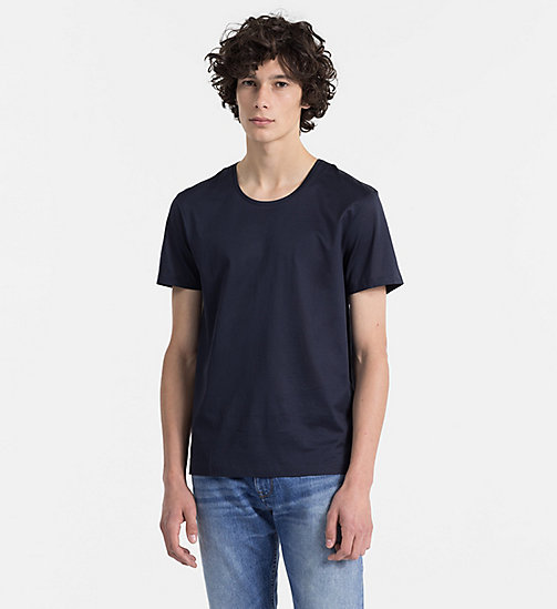 CALVINKLEIN Mercerised Cotton T-shirt - SKY CAPTAIN - CALVIN KLEIN CLOTHES - main image