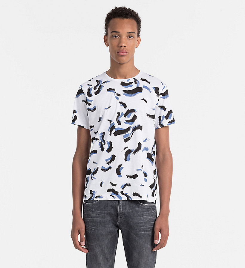Fitted printed t shirt calvin klein k10k101137 for Fitted t shirt printing