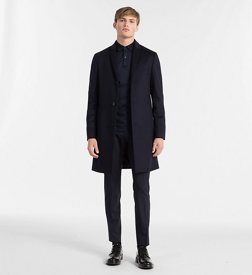 CALVINKLEIN Wool Cashmere Coat - PERFECT BLACK - CALVIN KLEIN MEN - detail image 1