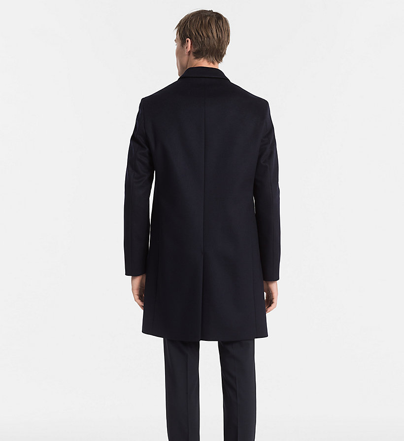 CALVINKLEIN Wool Cashmere Coat - PERFECT BLACK - CALVIN KLEIN MEN - detail image 2