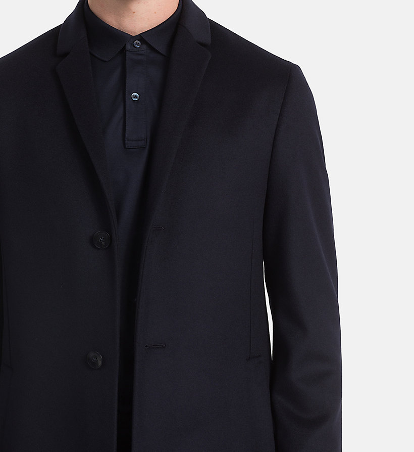 CALVINKLEIN Wool Cashmere Coat - PERFECT BLACK - CALVIN KLEIN MEN - detail image 3